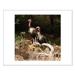 Two Turkeys on a Log Small Poster