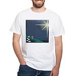 Christmas Star Mural White T-Shirt