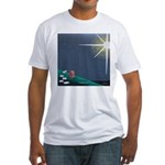 Christmas Star Mural Fitted T-Shirt