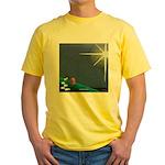 Christmas Star Mural Yellow T-Shirt