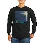 Christmas Star Mural Long Sleeve Dark T-Shirt
