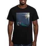 Christmas Star Mural Men's Fitted T-Shirt (dark)