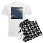 Christmas Star Mural Men's Light Pajamas