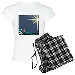 Christmas Star Mural Women's Light Pajamas