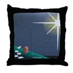 Christmas Star Mural Throw Pillow