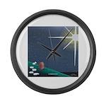 Christmas Star Mural Large Wall Clock