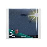 Christmas Star Mural Throw Blanket