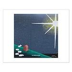 Christmas Star Mural Small Poster