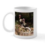 Two Turkeys on a Log Mug