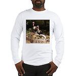 Two Turkeys on a Log Long Sleeve T-Shirt