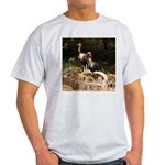 Two Turkeys on a Log Light T-Shirt