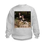 Two Turkeys on a Log Kids Sweatshirt
