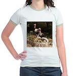 Two Turkeys on a Log Jr. Ringer T-Shirt