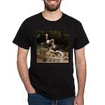 Two Turkeys on a Log Dark T-Shirt