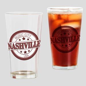 Nashville Music City-CIR Drinking Glass