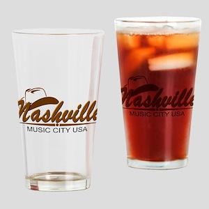 Nashville Music City-BRN Drinking Glass