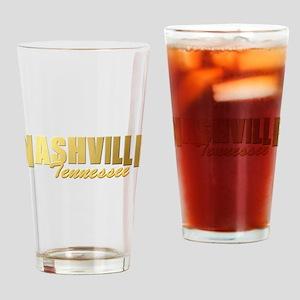 Nashville-TN-GLD Drinking Glass