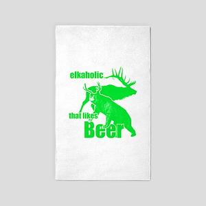 Elkaholic Beer g2 Area Rug