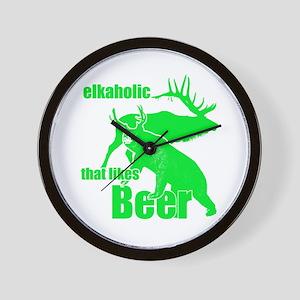 Elkaholic Beer g2 Wall Clock