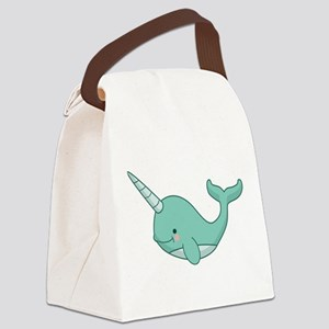 Happy Narwhal Canvas Lunch Bag