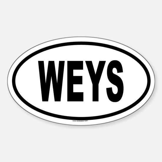 WEYS Oval Decal