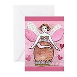 Chocolate Fairy Greeting Cards