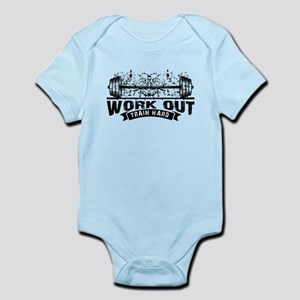 Work Out Train Hard Body Suit