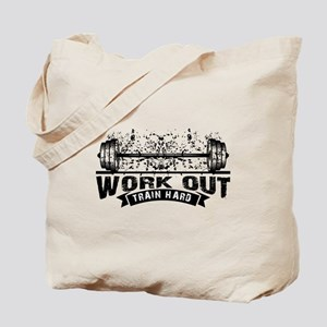Work Out Train Hard Tote Bag