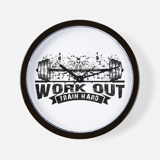 Work Out Train Hard Wall Clock
