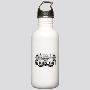 Work Out Train Hard Stainless Water Bottle 1.0L