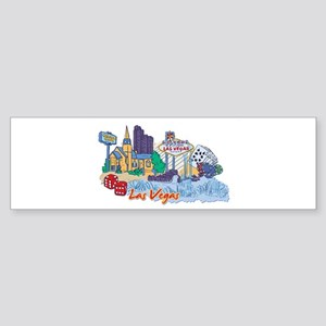 Las Vegas Travel Poster Bumper Sticker