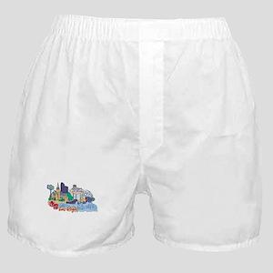 Las Vegas Travel Poster Boxer Shorts