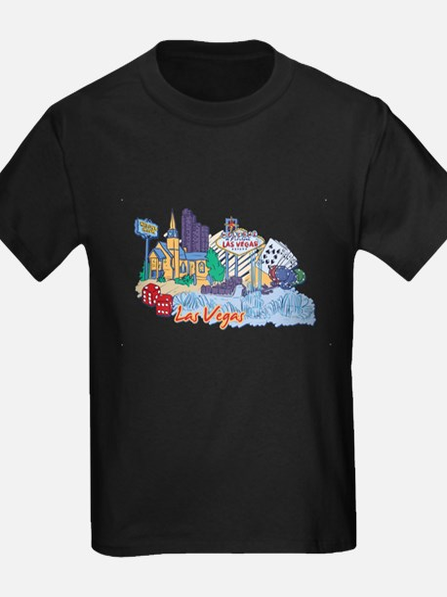 Las Vegas Travel Poster T-Shirt