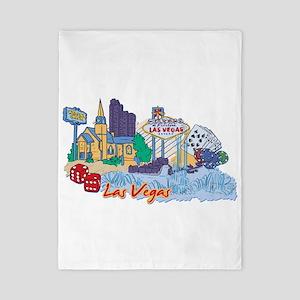 Las Vegas Travel Poster Twin Duvet