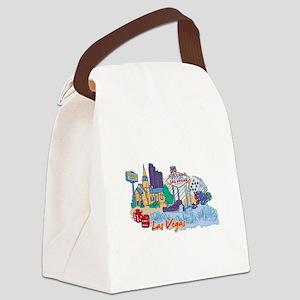 Las Vegas Travel Poster Canvas Lunch Bag