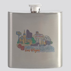 Las Vegas Travel Poster Flask