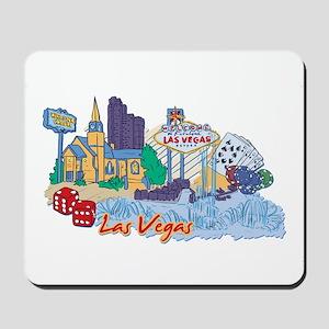 Las Vegas Travel Poster Mousepad