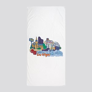 Las Vegas Travel Poster Beach Towel