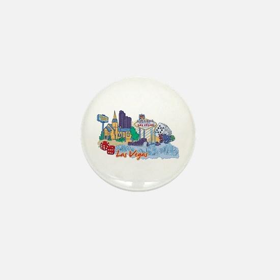 Las Vegas Travel Poster Mini Button
