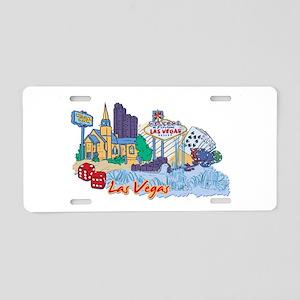 Las Vegas Travel Poster Aluminum License Plate