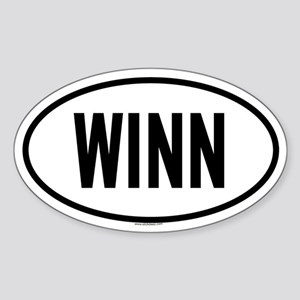 WINN Oval Sticker