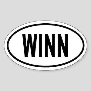 WINN Oval Sticker