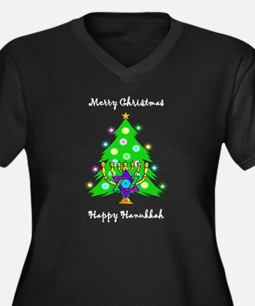 Hanukkah and Christmas Interfaith Plus Size T-Shir