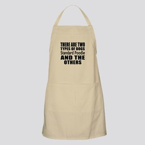 There Are Two Types Of Standard Poodle Dogs Apron