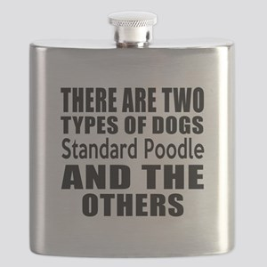 There Are Two Types Of Standard Poodle Dogs Flask
