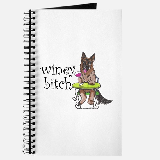 German Shepherd Winey Bitch Journal