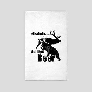 Elkaholic beer b2 Area Rug