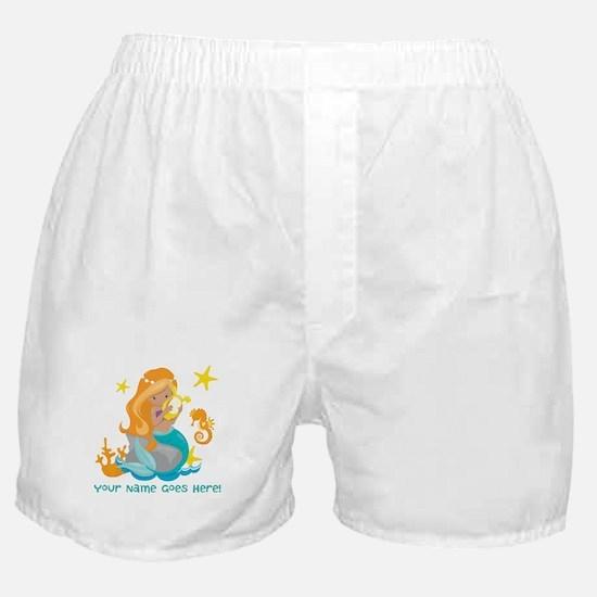 Blond Mermaid Boxer Shorts