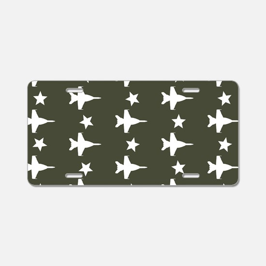 F-18 Hornet Fighter Jet Pat Aluminum License Plate