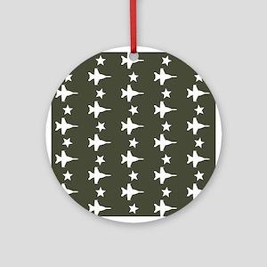 F-18 Hornet Fighter Jet Pattern (Mi Round Ornament